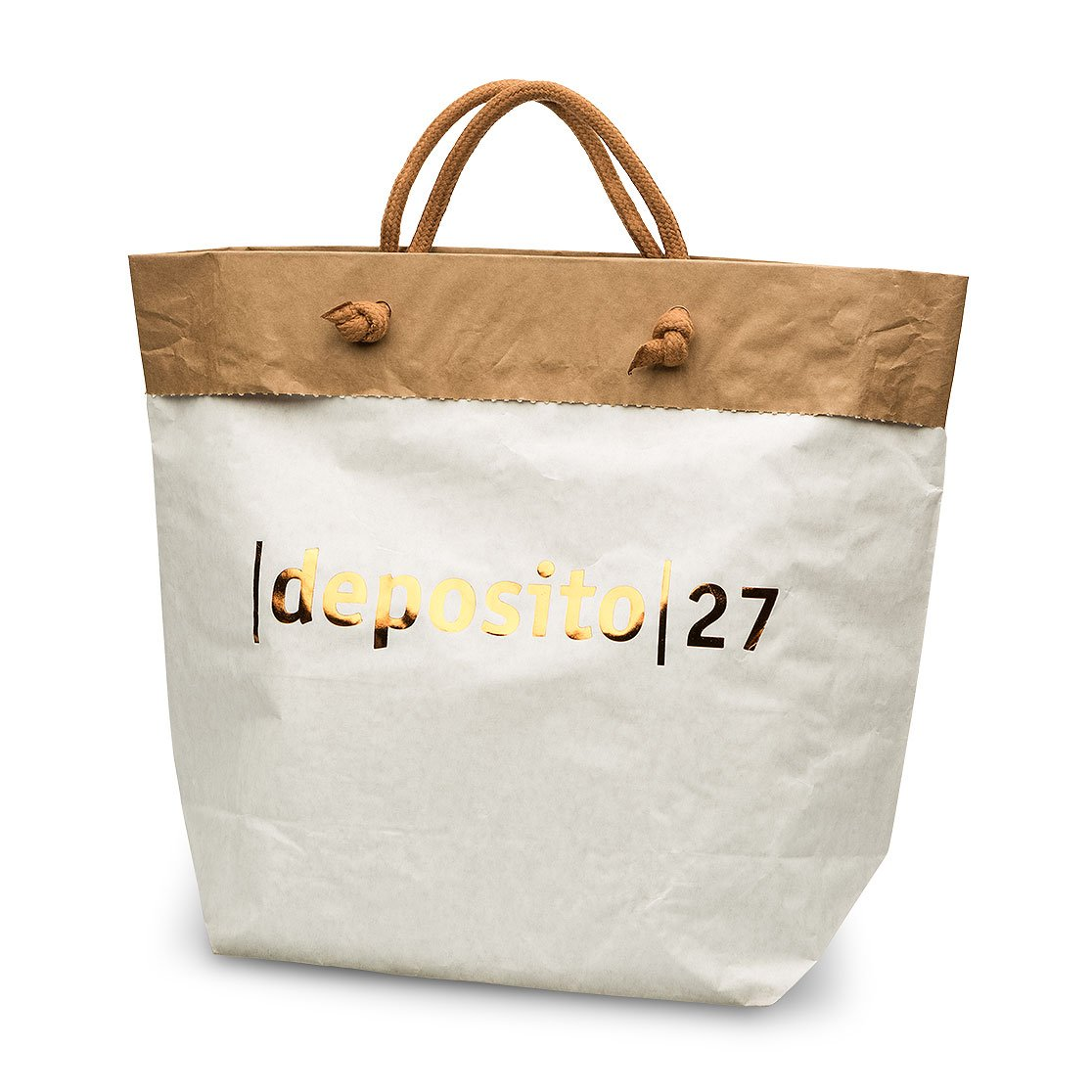 Paper bag double sheet with 4 knots handles