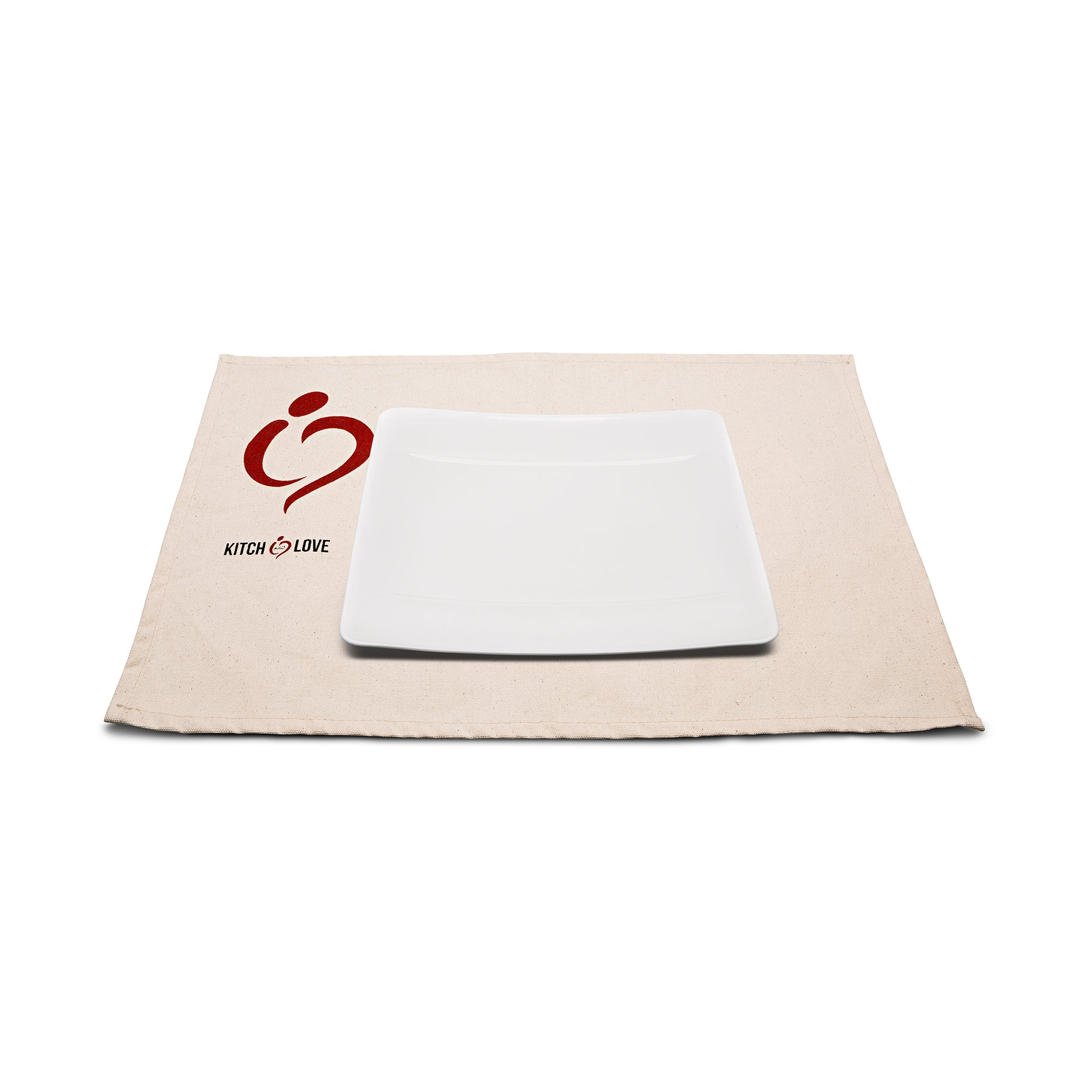 Linge de table en canvas avec logo