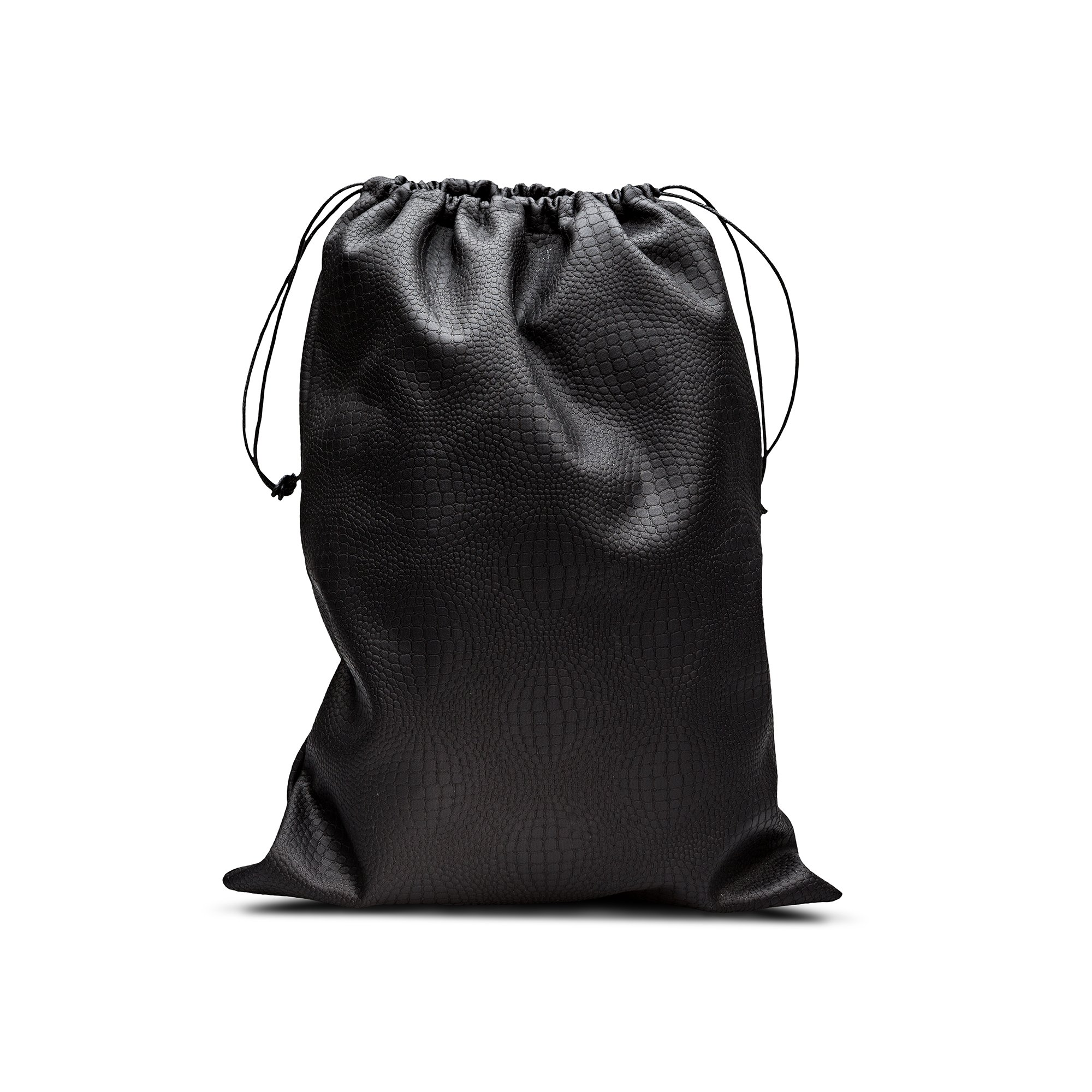 Reptile fabric shoebags with drawstrings