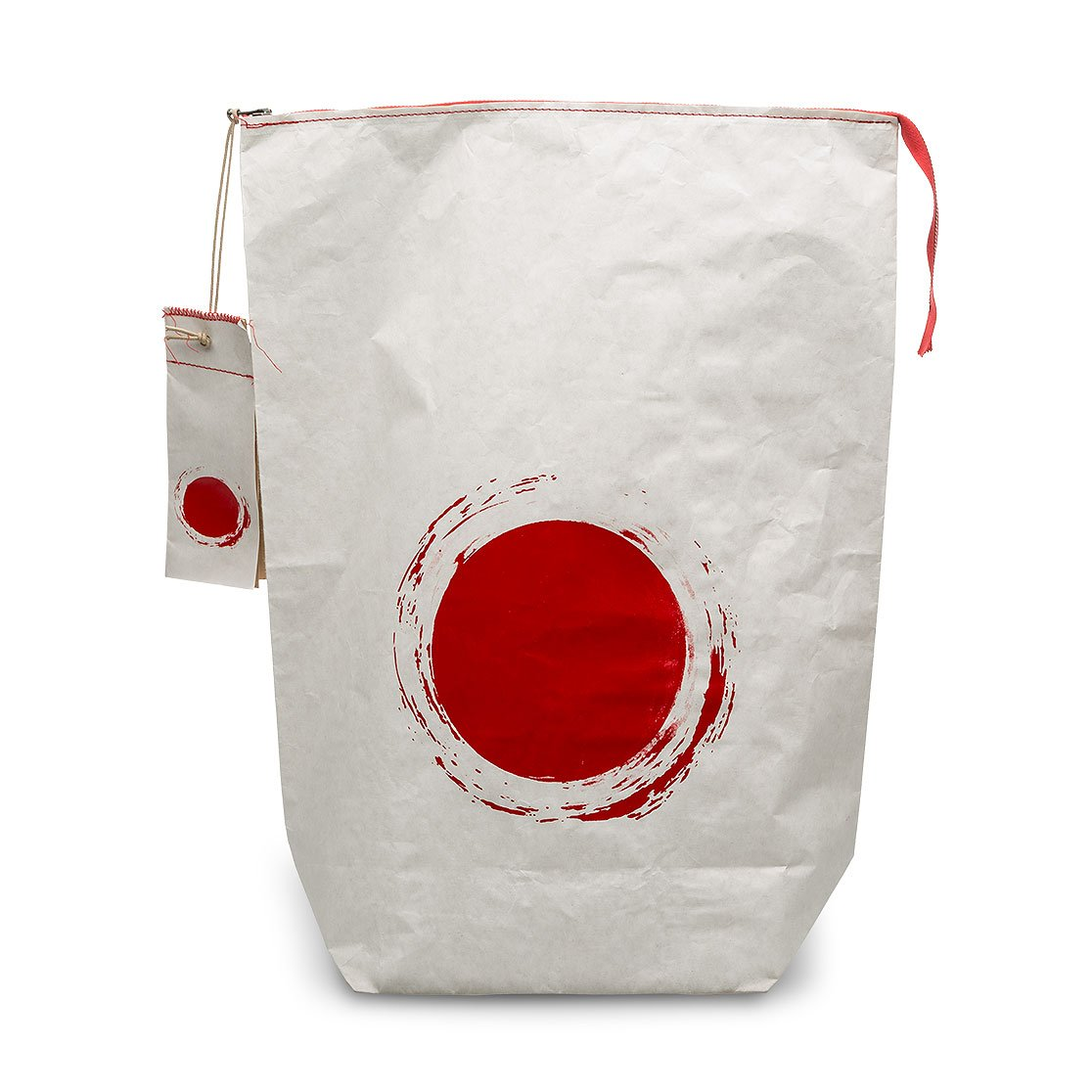Paper bag double sheet with zip and label