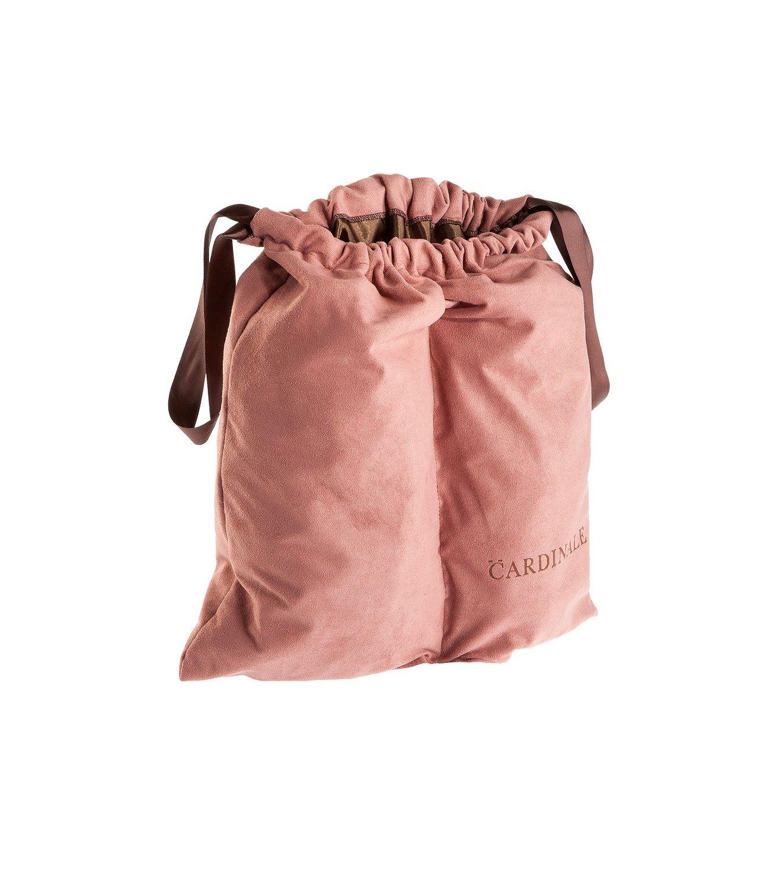 Sacca per scarpe divisa in alcantara rosa antico